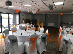 Orange and Black Wedding